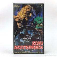 Cine: ZONA RESTRINGIDA CARATULA RECORTADA / SCARECROWS 1988 WILLIAM WESLEY SLASHER SOBRENATURAL TERROR VHS. Lote 240807400