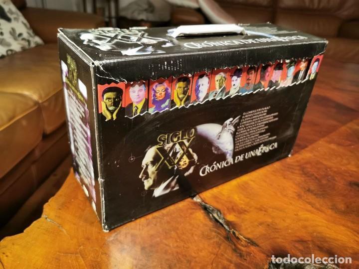 CRONICA DE UNA EPOCA SIGLO XX CAJA COMPLETA CON 13 VIDEOS VHS - COMO NUEVO (Cine - Películas - VHS)