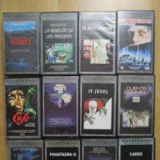 Cine: STEPHEN KING 12 PELICULAS TERROR VHS IT CARRIE MISERY PHANTASMA LA TIENDA SALEM'S LOT RESPLANDOR. Lote 241284305