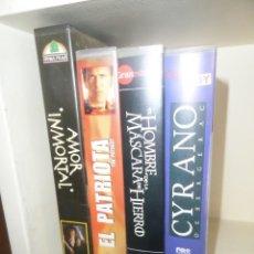 Cine: LOTE 4 VHS EPOCA MEDIEVAL - CYRANO / PATRIOTA / HOMBRE MASCARA HIERRO - DISPONGO DE MAS VHS. Lote 242475255