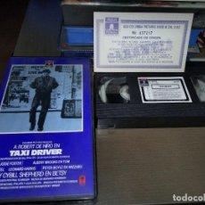 Cine: TAXI DRIVER ,1° EDICIÓN , VHS. Lote 242870560