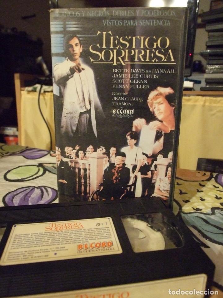 TESTIGO SORPRESA - JEAN CLAUDE TRAMONT - BETTE DAVIS , JAMIE LEE CURTIS - LORIMAR 1988 (Cine - Películas - VHS)