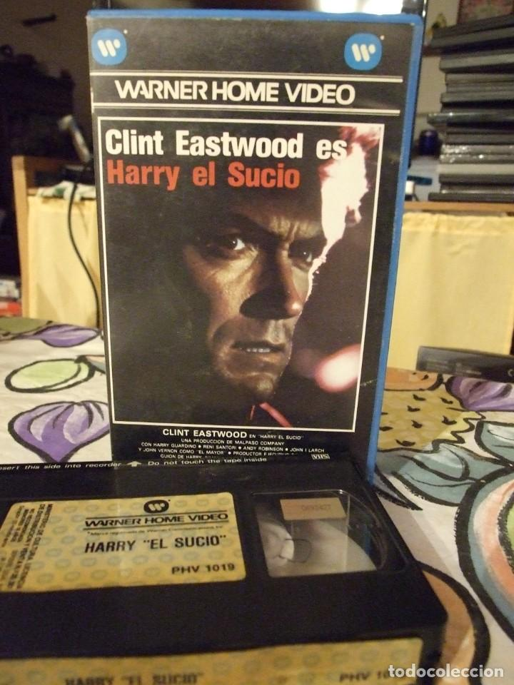 HARRY EL SUCIO - DON SIEGEL - CLINT EASTWOOD , HARRY GUARDINO - WARNER 1985 PERFECTA (Cine - Películas - VHS)