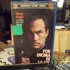 Cine: POR ENCIMA DE LA LEY - ANDREW DAVIS - STEVEN SEAGAL , PAM GRIER - WARNER 1988. Lote 243984245