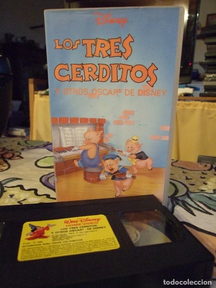 LOS TRES 3 CERDITOS Y OTROS OSCAR DE DISNEY - WALT DISNEY HOME VIDEO 1991 (Cine - Películas - VHS)