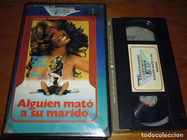 ALGUIEN MATÓ A SU MARIDO - LAMONT JOHNSON , FARRAH FAWCETT - VHS (Cine - Películas - VHS)
