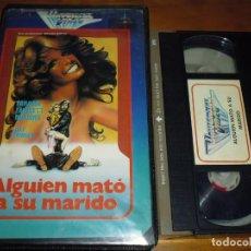 Cine: ALGUIEN MATÓ A SU MARIDO - LAMONT JOHNSON , FARRAH FAWCETT - VHS. Lote 244451425