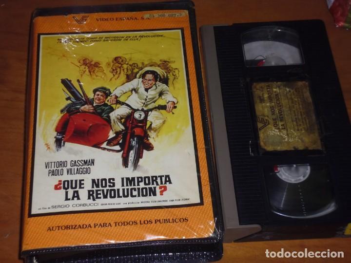 QUE NOS IMPORTA LA REVOLUCION ? - VITTORIO GASSMAN, PAOLO VILLAGGIO, SERGIO CORBUCCI - VHS (Cine - Películas - VHS)