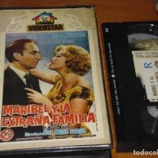Cine: MARIBEL Y LA EXTRAÑA FAMILIA - JOSE MARIA FORQUE, ADOLFO MARSILLACH, JULIA CABA ALBA - VHS. Lote 244452060