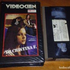 Cine: YO, CRISTINA F - DAVID BOWIE - VIDEOCIEN - VHS. Lote 244512735