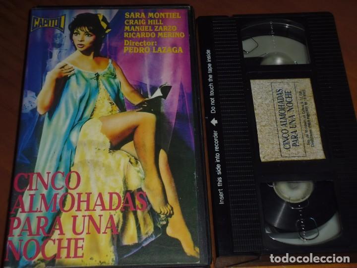CINCO ALMOHADAS PARA UNA NOCHE - SARA MONTIEL, CRAIG HILL, PEDRO LAZAGA - VHS (Cine - Películas - VHS)
