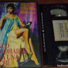 Cine: CINCO ALMOHADAS PARA UNA NOCHE - SARA MONTIEL, CRAIG HILL, PEDRO LAZAGA - VHS. Lote 244521685