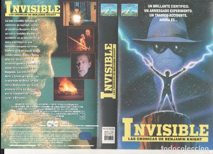 VHS - INVISIBLE LAS CRONICAS DE BENJAMIN KNIGHT - DESCATALOGADA Y UNICA (Cine - Películas - VHS)