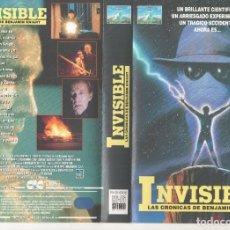 Cine: VHS - INVISIBLE LAS CRONICAS DE BENJAMIN KNIGHT - DESCATALOGADA Y UNICA. Lote 244521855