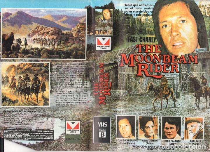 VHS - THE MOONBEAM RIDER / FAST CHARLY - DAVID CARRADINE, JACK PALANCE, NANCY KWAN (Cine - Películas - VHS)