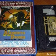 Cine: EL ALIMENTO DE LOS DIOSES - BERT GORDON, PAMELA FRANKLIN, IDA LUPINO, RALPH MEEKER - TERROR - VHS. Lote 244523340