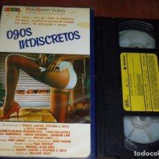 Cine: OJOS INDISCRETOS - KENNETH GILMAN, CHRISTINE CATTELL - SUSPENSE - 1ª EDICION POLYGRAM - VHS. Lote 244523590