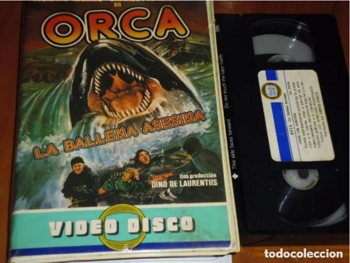 ORCA , LA BALLENA ASESINA - RICHARD HARRIS, CHARLOTTE RAMPLING - TERROR - VIDEO DISCO - VHS (Cine - Películas - VHS)