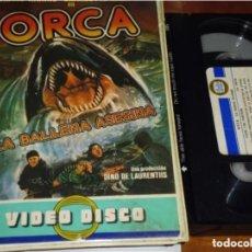 Cine: ORCA , LA BALLENA ASESINA - RICHARD HARRIS, CHARLOTTE RAMPLING - TERROR - VIDEO DISCO - VHS. Lote 244523990