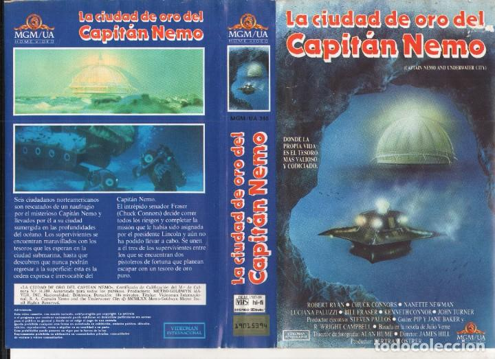 VHS - LA CIUDAD DE ORO DEL CAPITAN NEMO - ROBERT RYAN, CHUCK CONNORS (Cine - Películas - VHS)