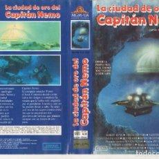 Cine: VHS - LA CIUDAD DE ORO DEL CAPITAN NEMO - ROBERT RYAN, CHUCK CONNORS. Lote 244524115
