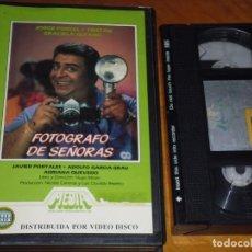 Cine: FOTOGRAFO DE SEÑORAS - JORGE PORCEL, JAVIER PORTALES, ADRIANA QUEVEDO - VHS. Lote 244690675
