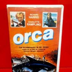 Cine: ORCA. LA BALLENA ASESINA (1977) - RICHARD HARRIS, CHARLOTTE RAMPLING, BO DEREK. Lote 244771240