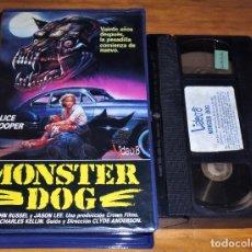 Cine: MONSTER DOG. LEVIATAN - JOHN RUSSEL, ALICE COOPER, EMILIO LINDER - TERROR - VHS. Lote 245056685