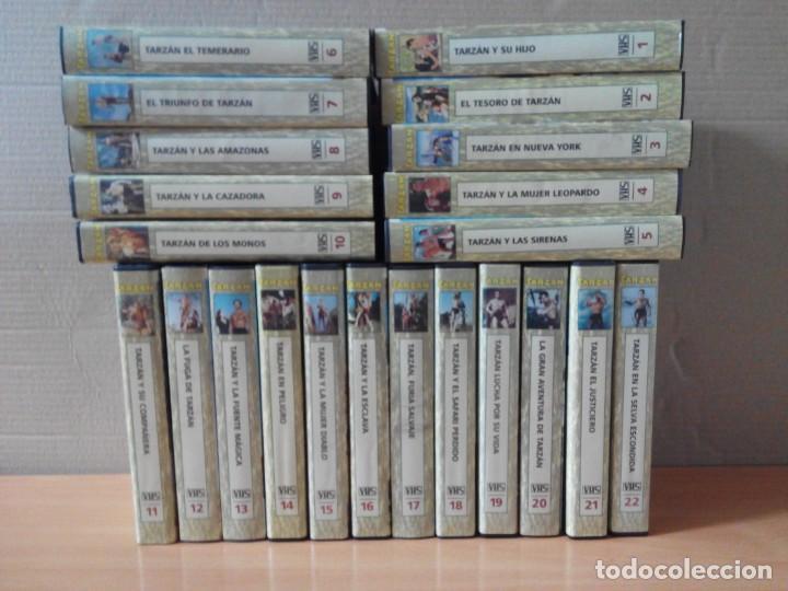 COLECCION DE 22 VIDEOS VHS DE TARZAN (Cine - Películas - VHS)
