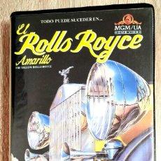 Cine: VHS - EL ROLLS ROYCE AMARILLO - INGRID BERGMAN, REX HARRISON, ANTHONY ASQUITH - COMEDIA - 1º EDICION. Lote 251739455