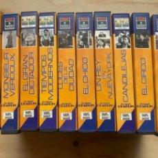 Cine: 10 PELÍCULAS DE CHAPLIN, EN VHS. Lote 252811500