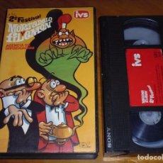 Cine: MORTADELO Y FILEMON . AGENCIA DE INFORMACION - 2º FESTIVAL - ESTUDIOS VARA - DIBUJOS ANIMADOS - VHS. Lote 253454610