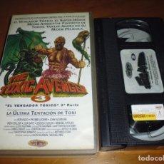 Cine: EL VENGADOR TOXICO 3 - MICHAEL HERZ, LLOYD KAUFMAN, JOHN ALTAMURA - TERROR - TROMA - VHS. Lote 254099345