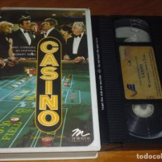 Cine: CASINO - MIKE CONNORS, BO HOPKINS, ROBERT REED, BARRY SULLIVAN - VHS. Lote 254099675