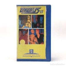 Cine: DROIDS II STAR WARS C3PO R2D2 EWOKS LA GUERRA DE LAS GALAXIAS GEORGE LUCAS DIBUJOS VHS EN MAL ESTADO. Lote 254464605