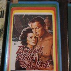 Cine: VHS VIDEOCASSETTE MAJOR VIDEO PELÍCULA LEX BARKER EN TARZAN, FURIA SALVAJE. Lote 254505735