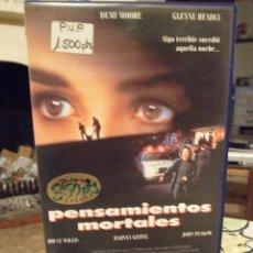 Cine: PENSAMIENTOS MORTALES - ALAN RUDOLPH - DEMI MOORE , BRUCE WILLIS - COLUMBIA 1990. Lote 254836565