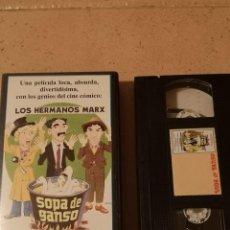 Cine: VHS PELICULA VIDEO LOS HERMANOS MARX SOPA DE GANSO. Lote 255365965