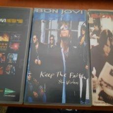 Cine: BON JOVI. 3 VHS. BUEN ESTADO. CROSS ROAD. KEEP THE FAITH. ONE WILD NIGHT LIVE.. Lote 255387065