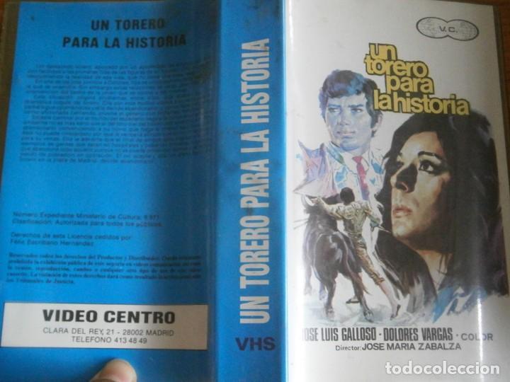 PELICULA VHS, UN TORERO PARA LA HISTORIA (Cine - Películas - VHS)
