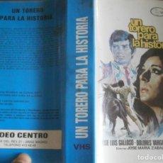 Cine: PELICULA VHS, UN TORERO PARA LA HISTORIA. Lote 257401555