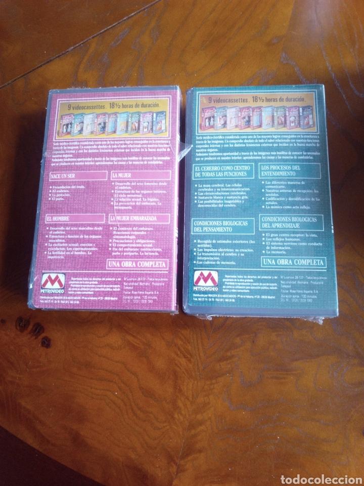 Cine: VHS EL CUERPO HUMANO, COLECCIÓN COMPLETA DE 9 CINTAS A ESTRENAR - Foto 3 - 257402085