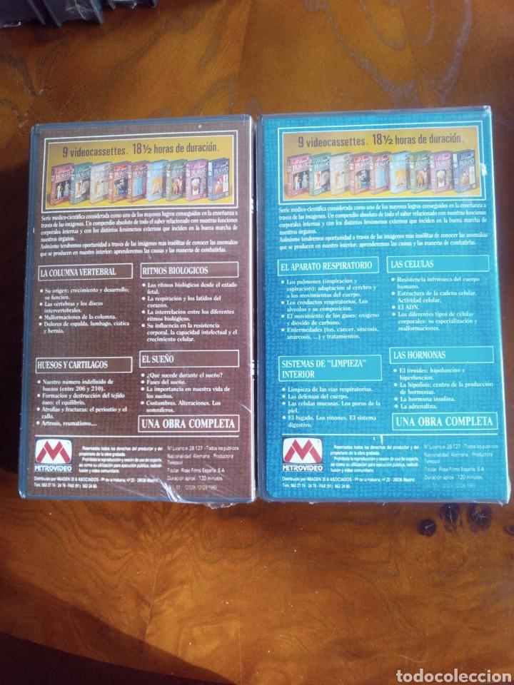 Cine: VHS EL CUERPO HUMANO, COLECCIÓN COMPLETA DE 9 CINTAS A ESTRENAR - Foto 7 - 257402085