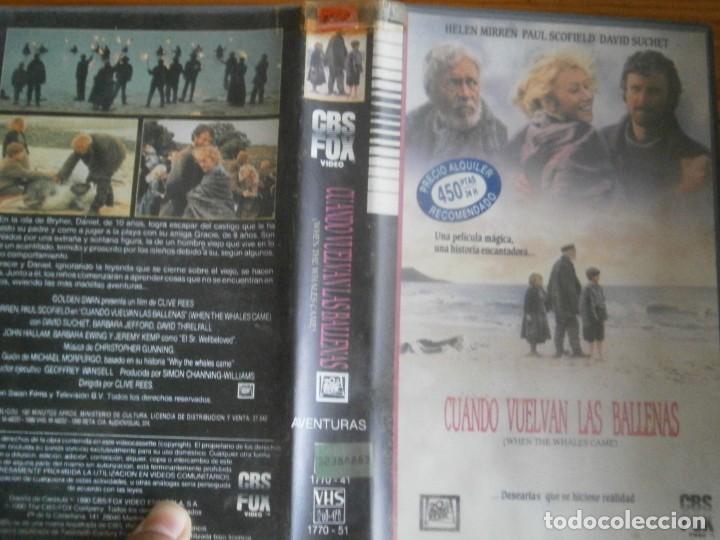 PELICULA VHS, CUANDO VUELVAN LAS BALLENAS (Cine - Películas - VHS)