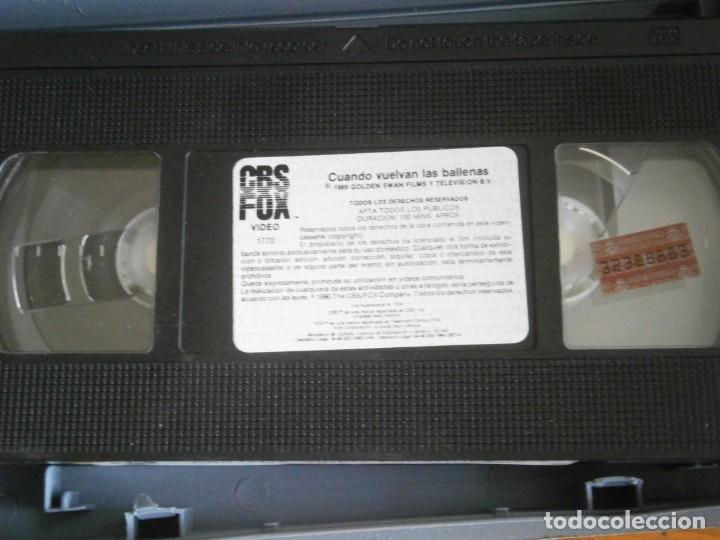 Cine: PELICULA VHS, CUANDO VUELVAN LAS BALLENAS - Foto 2 - 257402210
