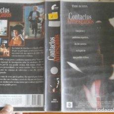 Cine: PELICULA VHS, CONTACTOS ARRIESGADOS. Lote 257402345