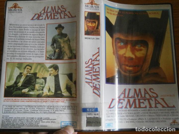 PELICULA VHS, ALMAS DE METAL, PRIMERA EDICION, UNICA EN TC (Cine - Películas - VHS)