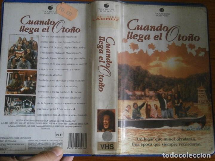 PELICULA VHS, CUANDO LLEGA EL OTOÑO (Cine - Películas - VHS)