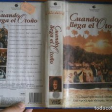 Cine: PELICULA VHS, CUANDO LLEGA EL OTOÑO. Lote 257402705
