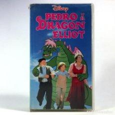 Cine: PEDRO Y EL DRAGON ELLIOT DON CHAFFEY SEAN MARSHALL HELEN REDDY IMAGEN REAL ANIMACION WALT DISNEY VHS. Lote 257747435